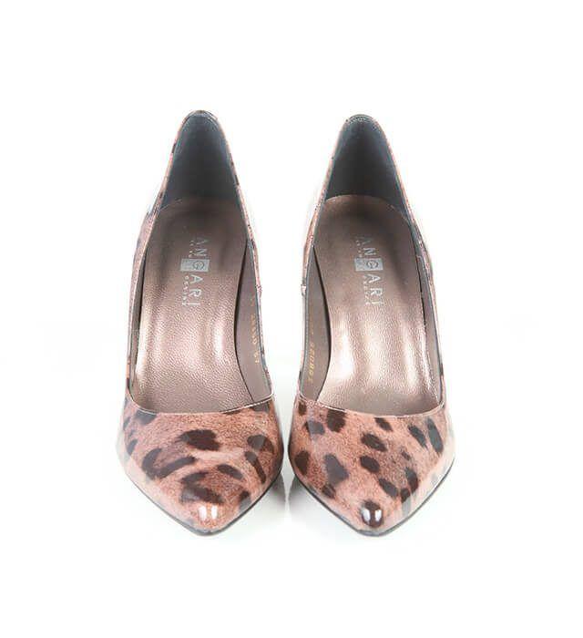 Zapatos Mujer Stilettos Animal Print Piel Charol Angari Shoes.