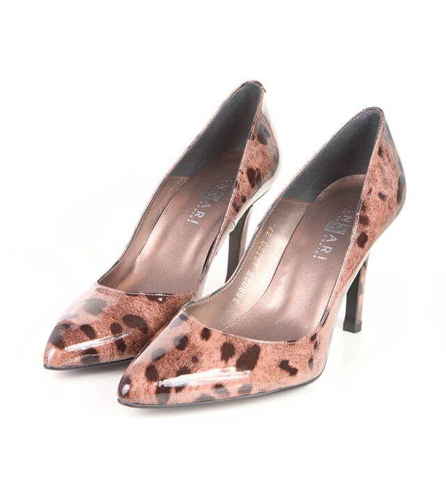 Zapatos Salón Mujer Charol Animal Print Angari Shoes.