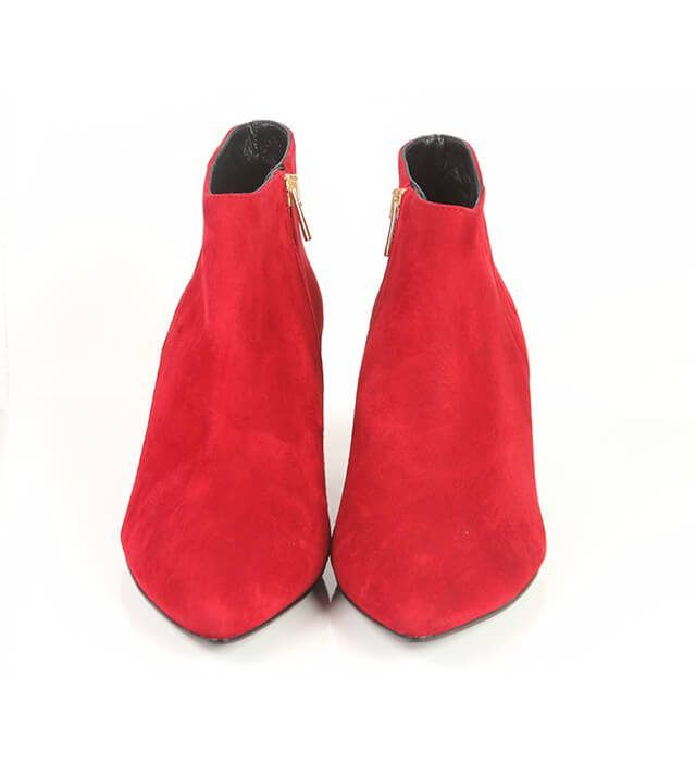 Botines Mujer Red Piel Ante Bajo Angari Shoes.