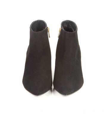 Botines Bajos Mujer Ante Negros Angari Shoes.