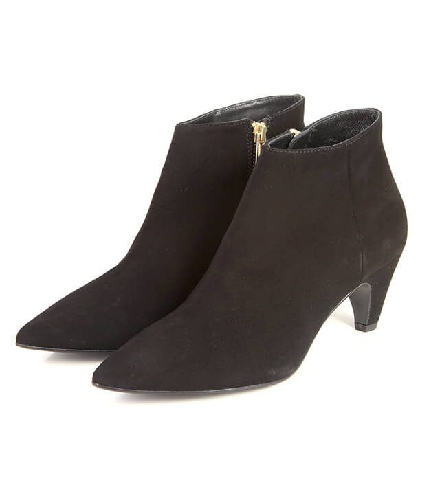 Botines Mujer Black Ante Bajo Angari Shoes.