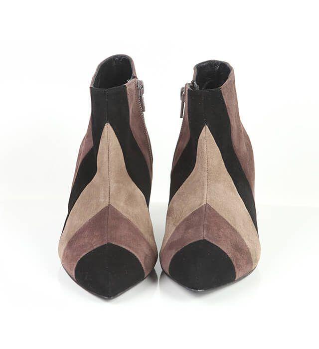 Botines Mujer Tricolor Beige Brown Angari Shoes.