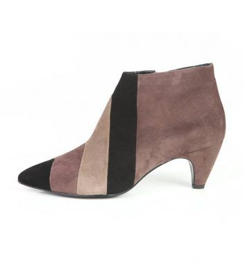 Botín Mujer Tricolor Ante Beige Angari Shoes.