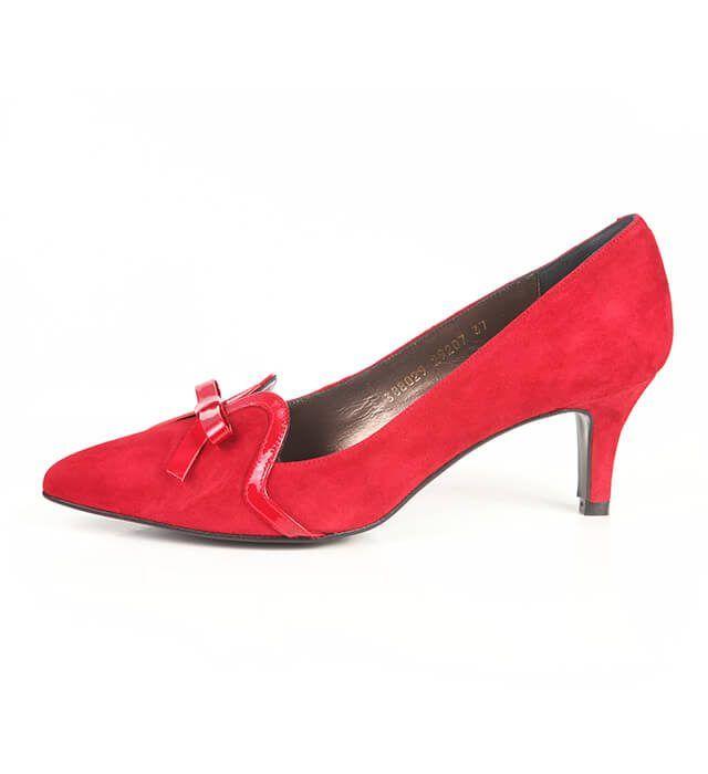 Zapato Salón Mujer Ante Red Angari Shoes.