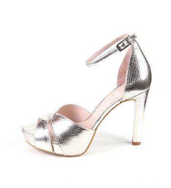 Zapato Mujer Sandalia Metal Pulsera Angari Shoes.