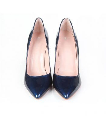 Zapatos Fiesta Mujer Stilettos Azul Charol Angari Shoes.