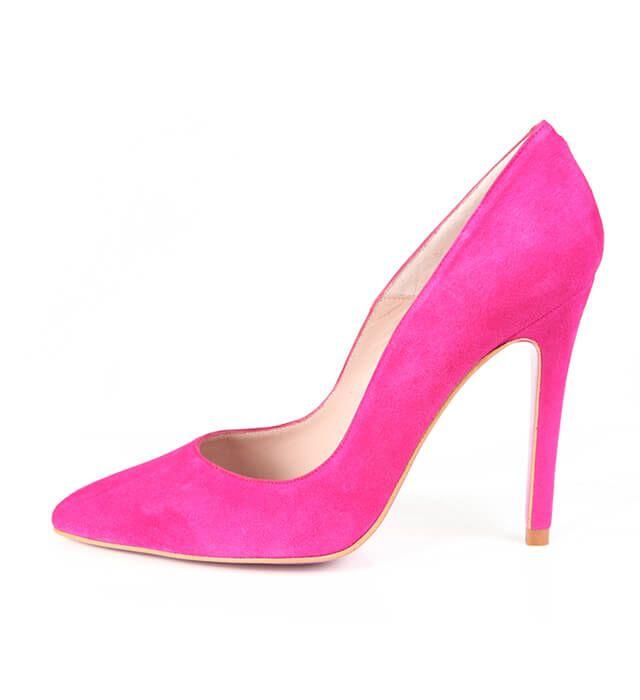 Zapato Mujer Stiletto Rosa Ante Angari Shoes.