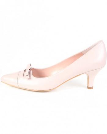 Zapato Salón Mujer Piel Rosa Palo Angari Shoes.
