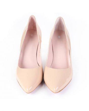 Zapatos Salón Mujer Beige Piel Charol Angari Shoes.