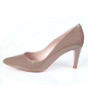 Zapato Salón Mujer Charol Brown Angari Shoes.