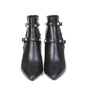 Botines Mujer Negro Tachuelas Piel Angari Shoes.