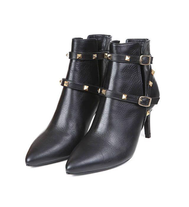Botines Mujer Black Piel Angari Shoes.