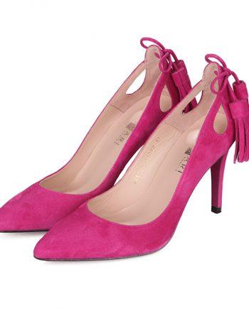 Zapatos Mujer Stilettos Ante Fucsia Flecos Angari Shoes.