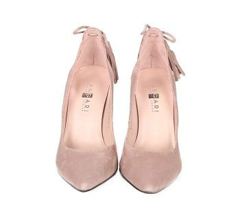 Zapatos Salón Mujer Ante Nude Románticos Angari Shoes.