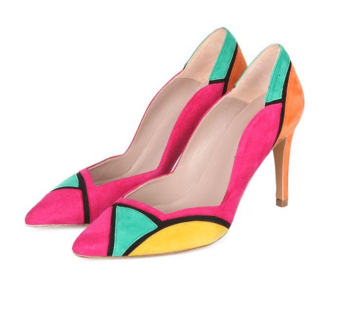 Zapatos Mujer Stilettos Fiesta Ante Colores Angari Shoes.