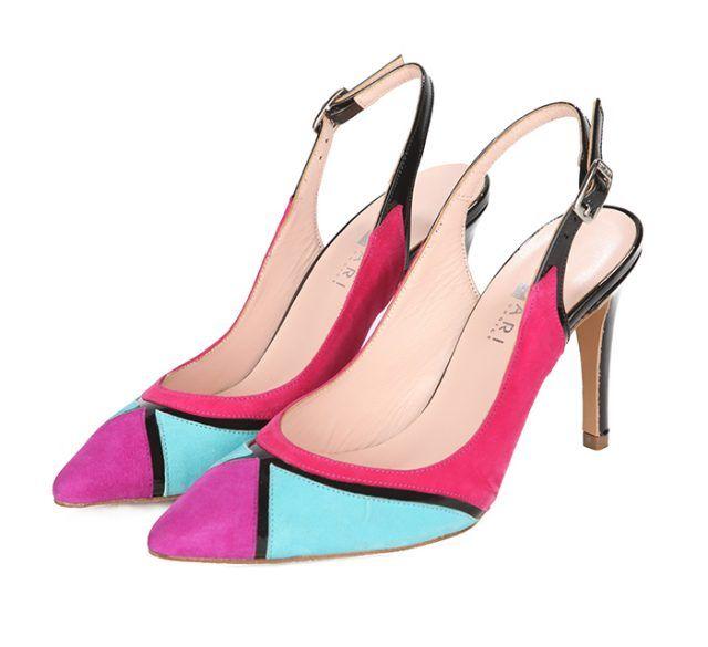 Zapatos Salón Mujer Multicolor Ante Angari Shoes.