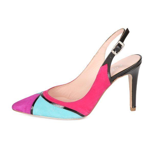 Zapato Stiletto Mujer Multicolor Ante Angari Shoes.