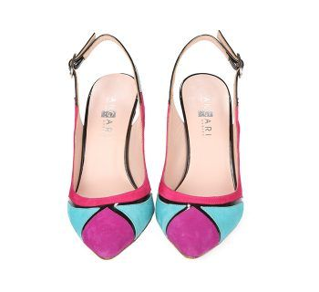 Zapatos Salón Stiletto Mujer Ante Tricolor Angari Shoes.