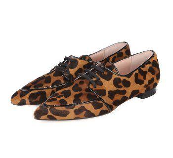 Blucher Mujer Animal Print Ante Angari Shoes.