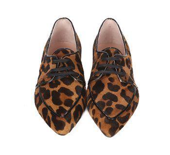 Zapatos Planos Mujer Animal Print Leopardo Ante Angari Shoes.