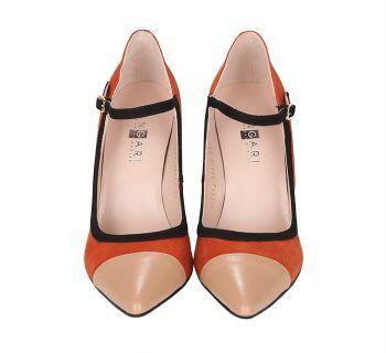 Zapatos Salón Tricolor Ante Angari Shoes.