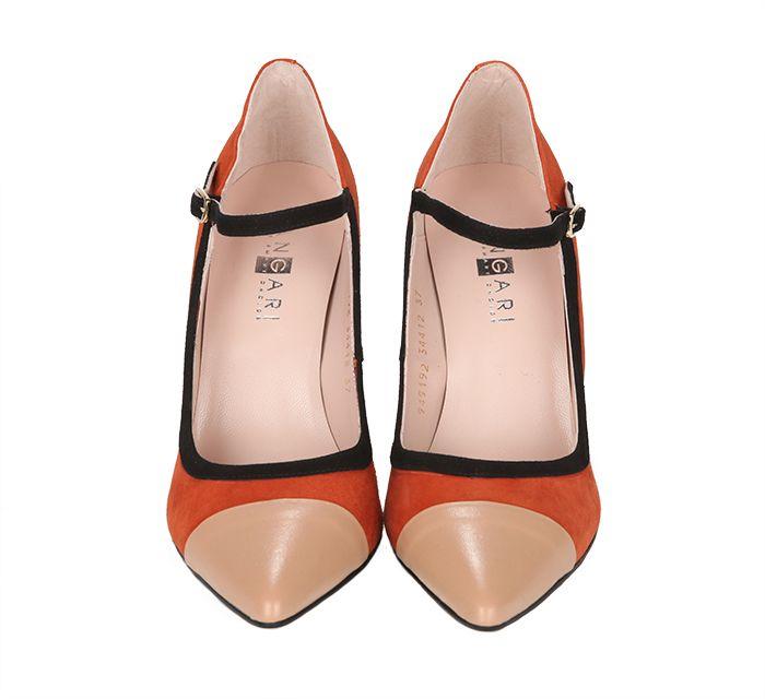 d65c65797d Zapatos Salón Tricolor Ante Angari Shoes.