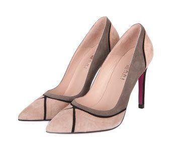 Zapatos Salón Ante Nude Detalles Negro Angari Shoes.