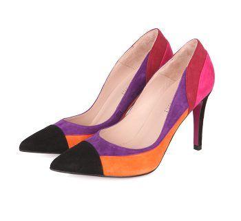 Zapatos Salón Stilettos Ante Multicolor Angari Shoes.