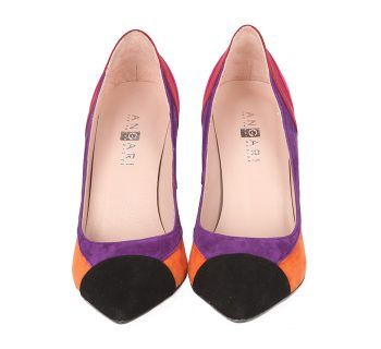 Zapatos Stilettos Ante Multicolor Fiesta Angari Shoes.
