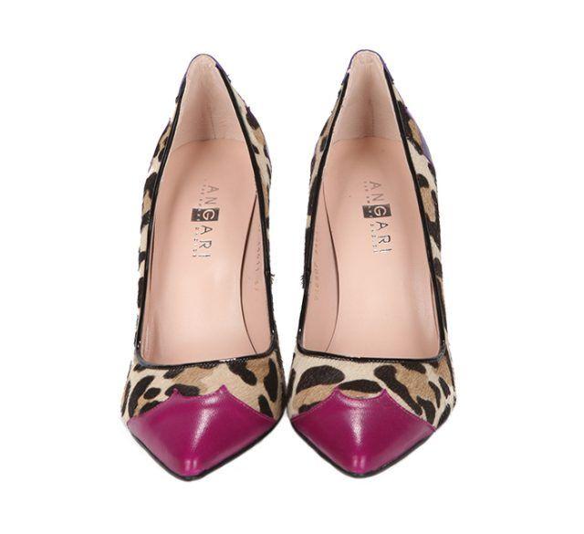 Zapatos Salón Ante Animal Print Combinados Angari Shoes.