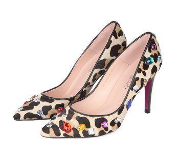 Zapatos Stiletto Tacón Animal Print Joyas Multicolor Angari Shoes.