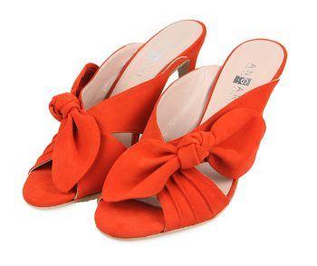 Sandalias Mujer Tacón Fino Ante Rojo Angari Shoes.