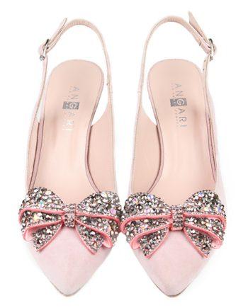 Zapatos Salón Mujer Ante Nude Joya Angari Shoes.
