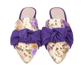 Zapatos Planos Mujer Babucha Piel Angari Shoes.