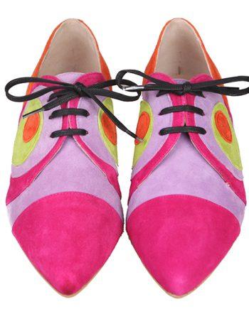Zapatos Planos Estilo Blucher Mujer Ante Angari Shoes.