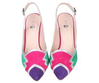 Zapatos Salón Mujer Tricolor Angari Shoes.