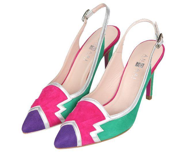 Zapatos Mujer Stilettos Multicolor Tacón Fino Angari Shoes.