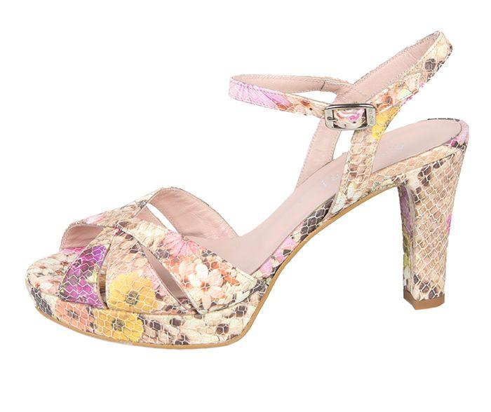 9e8a48faf Zapato Sandalia Plataforma Mujer Floral Nude Angari Shoes.