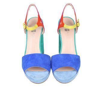 Sandalias Plataforma Ante Multicolor Angari Shoes.