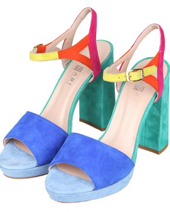 Sandalias Mujer Plataforma Ante Colores Angari Shoes.