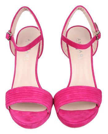 Sandalias Mujer Primavera Verano Ante Fucsia Angari shoes.