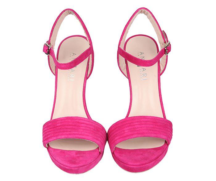 86e32cea6 Sandalias Mujer Primavera Verano Ante Fucsia Angari shoes.