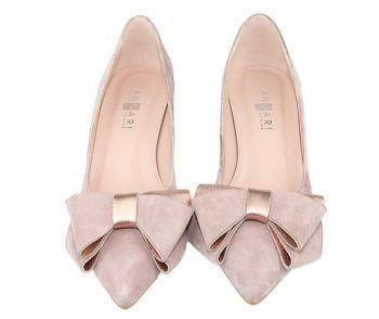 zapatos de vestir con lazo color nude colección 18/19