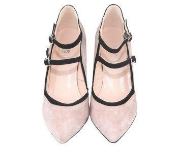 zapatos de mujer de tacón ancho