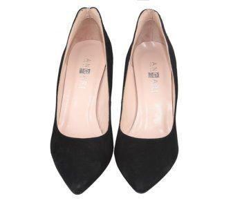 zapatos de tacón zapatos de ante negros talón rojo