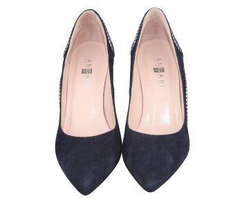 zapatos de tacón salón talón azul